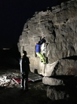 Playing on a new arete route